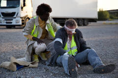 Aïcha Cissé en Kris Cuppens in Geel Hesje (foto: Bart Van Merode)