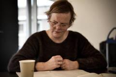 Chris Snick - Man in de mist tijdens eerste lezing - Foto: Bart Van Merode