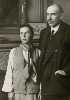 Lopokova en Keynes: Foto: Walter Benington © National Portrait Gallery, London (1872-1936)