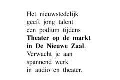 jong geweld in De Nieuwe Zaal Jongemakersfestival op Theater op de markt
